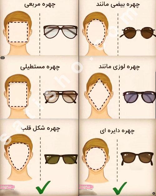 انتخاب عینک آفتابی بر اساس فرم صورت