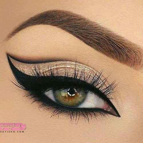آرایش چشم ریز و گودبا لنز رنگ روشن