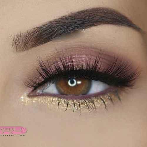 مدل آرایش چشم ملایم با متد های حرفه ای