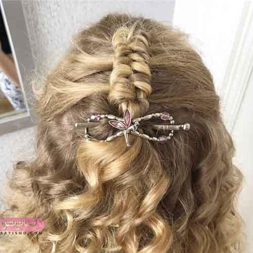 مدل بافت مو به شکل گل