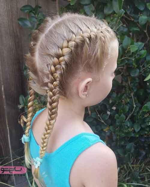 مدل بافت مو بچه گانه دخترانه