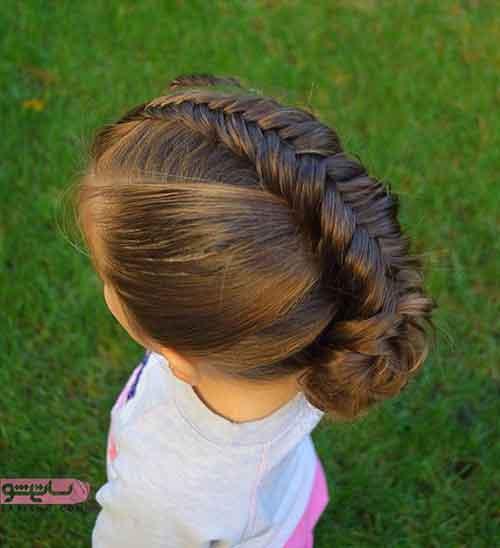 بافت موی بچه گانه دخترانه 98