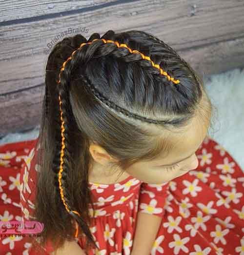 آموزش بافت مو بچه گانه دخترانه 98