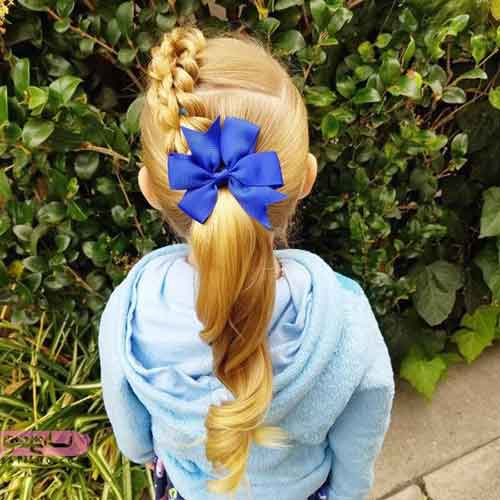 آموزش مدل بافت موی بچه گانه
