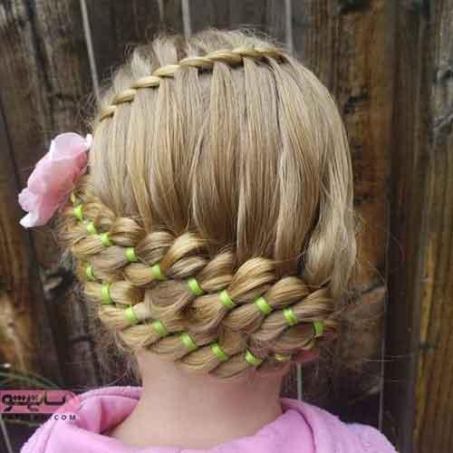 مدل بافت مو جدید دخترانه