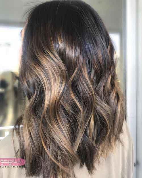 رنگ موی هایلایت روشن