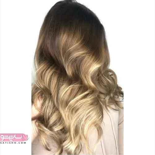 مدل رنگ مو جدید برای موهای بلند
