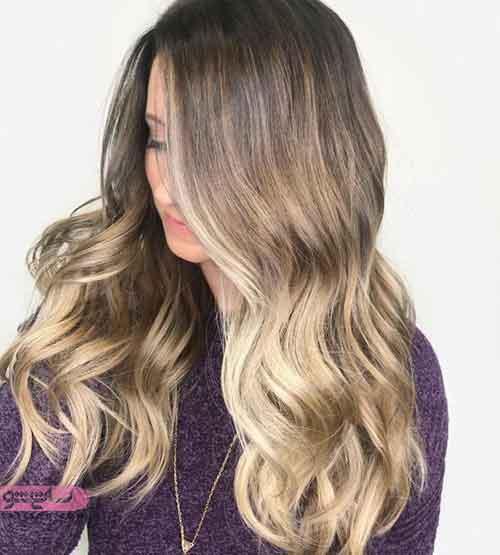 رنگ مو هایلایت روشن