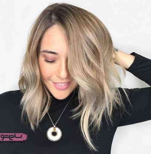 رنگ مو هایلایت قهوه ای