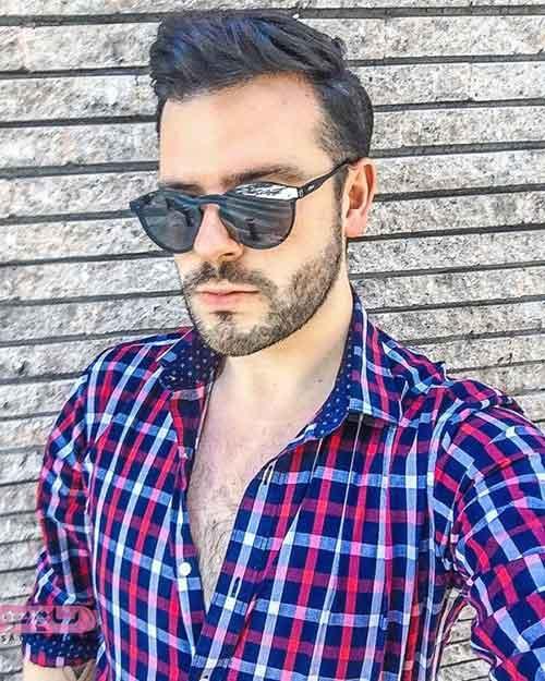 عینک آفتابی مردانه برای صورت گرد