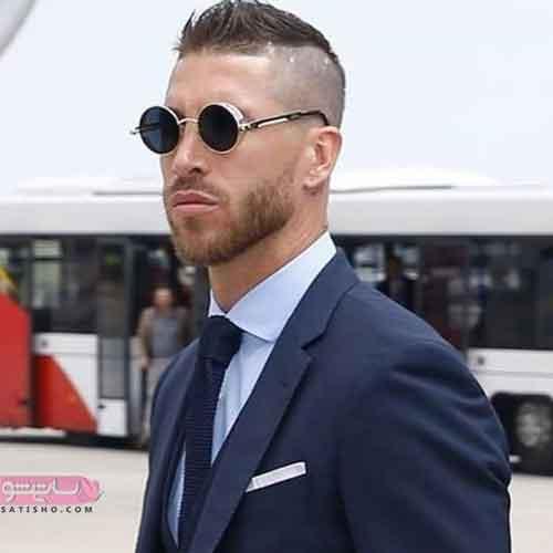 مدل عینک آفتابی مردانه برای صورت گرد