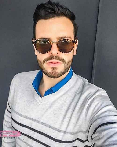 عینک آفتابی مردانه گرد