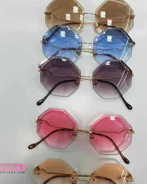عینک آفتابی زنانه رنگی