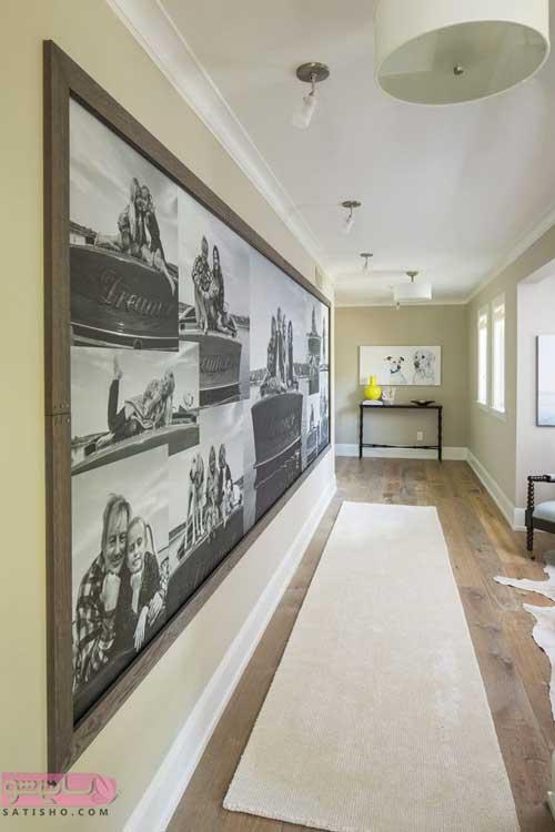 ایده نقاشی روی دیوار راهروی ورودی ساختمان