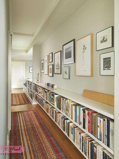 تزیین راهرو با قفسه کتاب