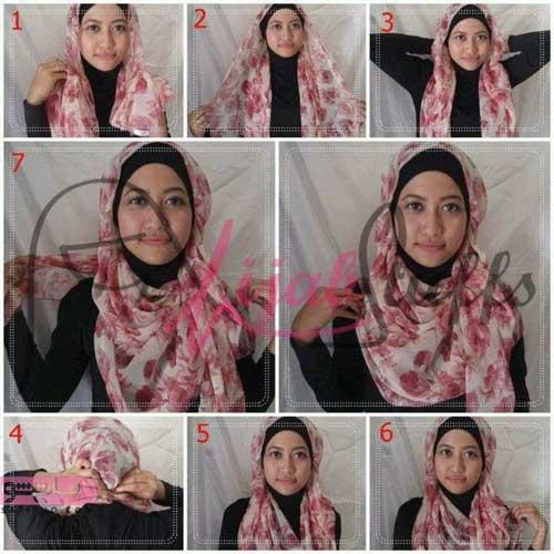 مدل بستن روسری برای عروسی