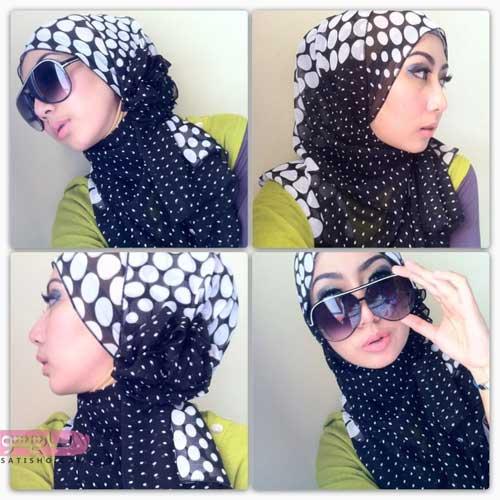 آموزش ست کردن روسری با عینک دودی