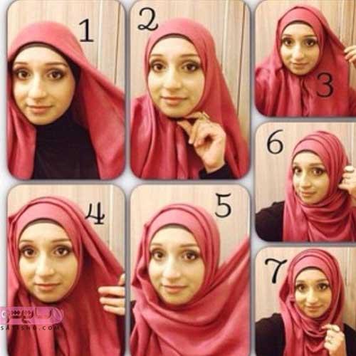 آموزش تصویری بستن شال روسری به صورت گام به گام