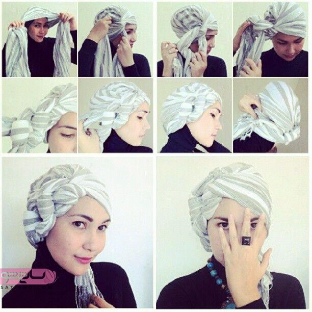 مدل بستن روسری زیر چادر لاکچری دخترانه