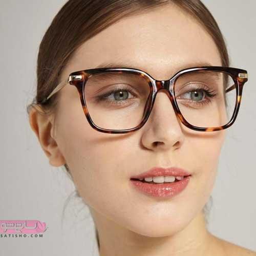فریم عینک طبی بزرگ دخترانه جدید برای صورت های لاغر