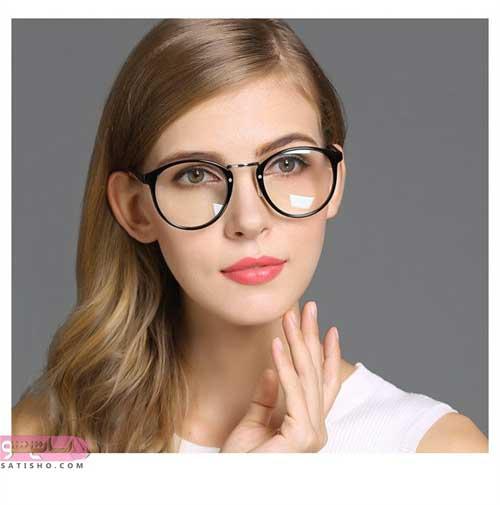 عینک طبی برای صورت لاغر