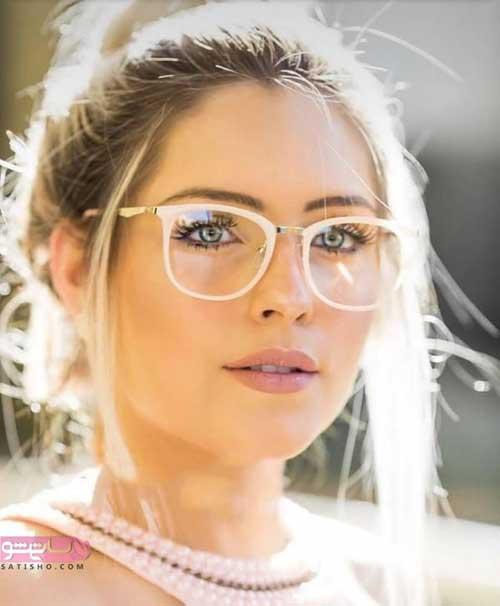 مدل عینک طبی برای صورت های گرد و تپل