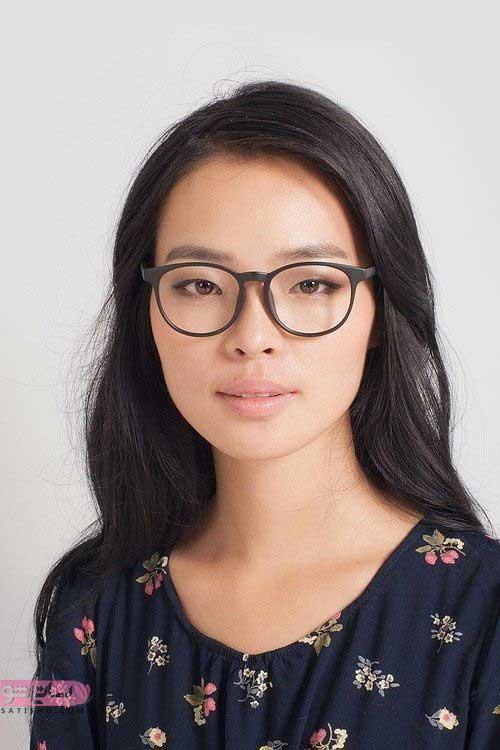 مدل عینک دخترانه گرد صورتی