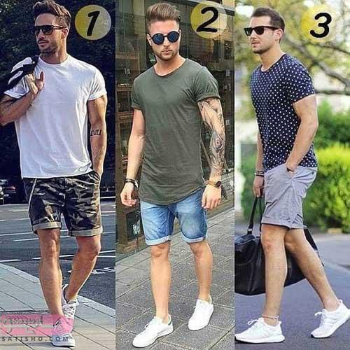 مدل شلوارک و تیشرت مردانه