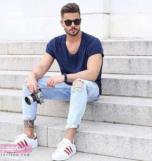 مدل پیراهن های مردانه جدید با شلوار لی