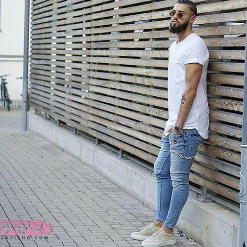 ست پیراهن مردانه اسپرت جین