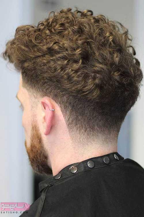 مدل مو مردانه ساده و شیک برای موهای فر