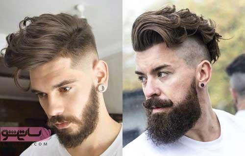 مدل مو خامه ای با ریش بلند