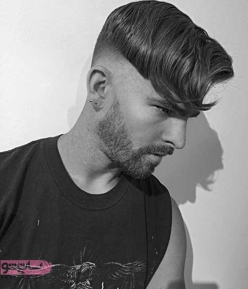 مدل موی خامه ای آندرکات مردانه