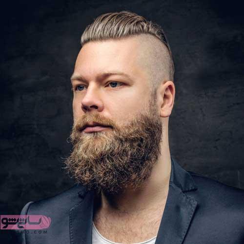 مدل مو کوتاه با ریش بلند جدید