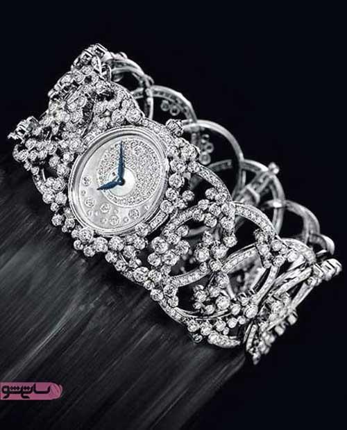 ساعت سنگ کاری شده مجلسی فوق العاده شیک زنانه برند گوچی