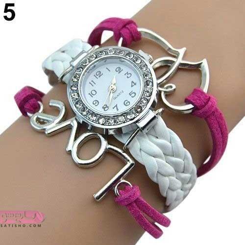 مدل ساعت دخترانه با طرح رمانتیک گوچی