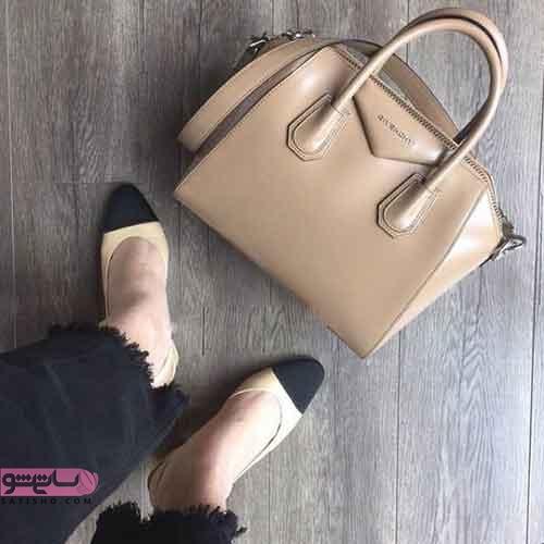 مدل کیف کرم رنگ چرم
