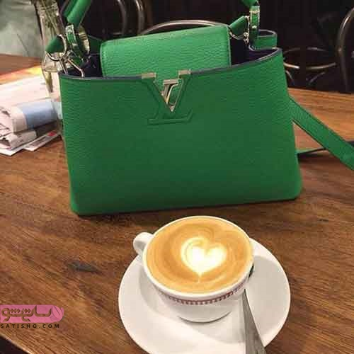 مدل کیف دستی چرم دست دوز زنانه 2019 سبز رنگ