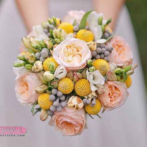 دسته گل عروس جدید 98