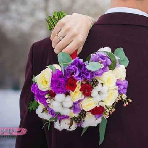 دسته گل عروس جدید 1398