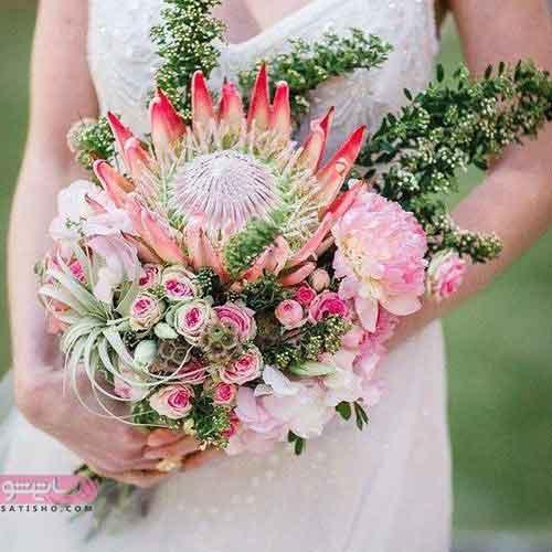 دسته گل عروس2019 رمانتیک