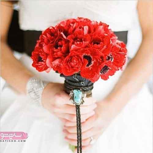دسته گل عروس ترکیبی با گل رز