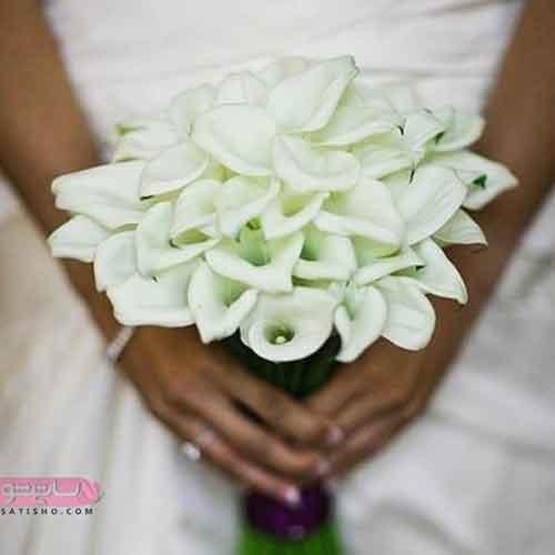 تزیین متفاوت دسته گل عروس