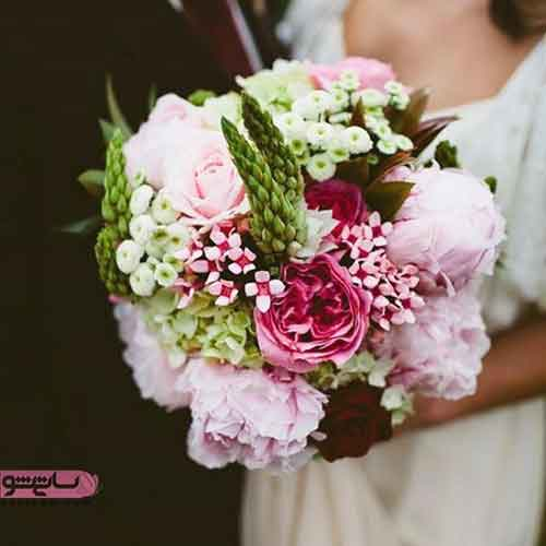 دسته گل گرد برای عروس
