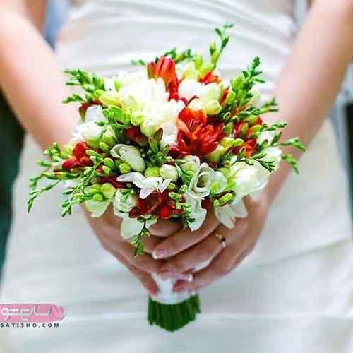 دسته گل عروس لاکچری و ساده