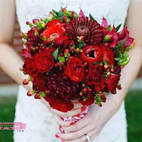 دسته گل عروس مناسب فصل پاییز