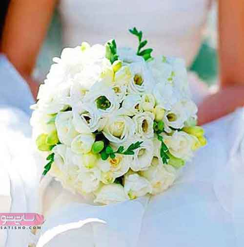 انواع دسته گل عروس گرد