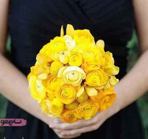 دست گل عروسی و برای عقد بسیار شیک و ساده