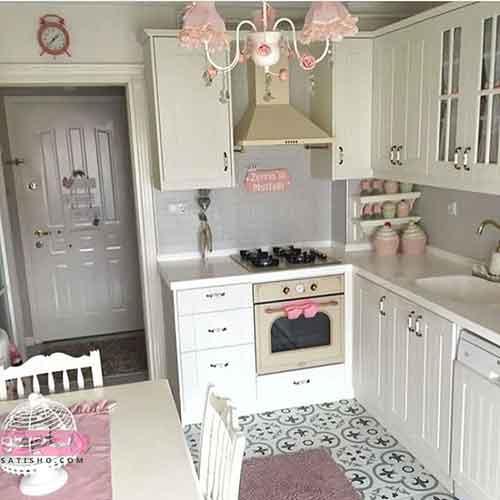 مدل شیک و مدرن کابینت و اپن برای منازل کوچک