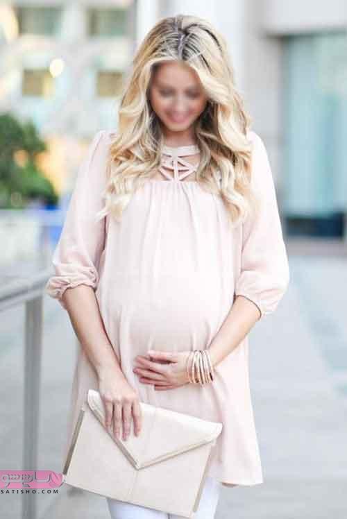 مدل مانتو بارداری با پارچه حریر